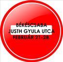 Egy hétre lezárják a Justh Gyula utcát Békéscsabán